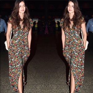 Like New — Zara Floral Maxi Dress — Size XS